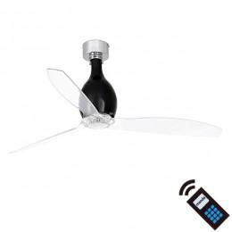 Ventilador DC MINI ETERFAN Negro Brillo / Transp 32026