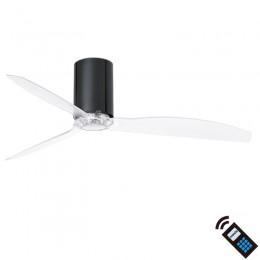 Ventilador DC MINI TUBE Negro Brillo Transp 32040