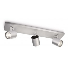 Foco 3 GU10 Runner Aluminio 530934812