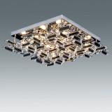 Plafon JEWEL Cromo 8xG9 cristal L16834-8