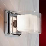 Aplique LED Cube 1 Luz Cromo 183653